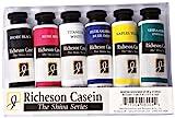 Jack Richeson 37-ml Artista caseína Colores, Juego de 6